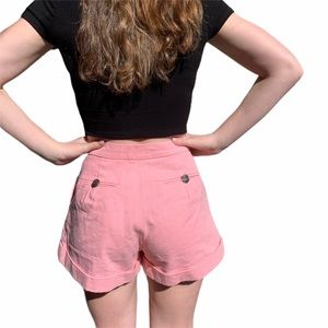 CHANEL Shorts - Chanel coral shorts with side pockets size small